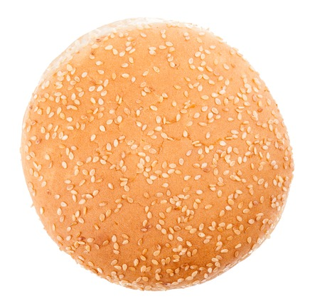 Top view of Burger Bun on white background