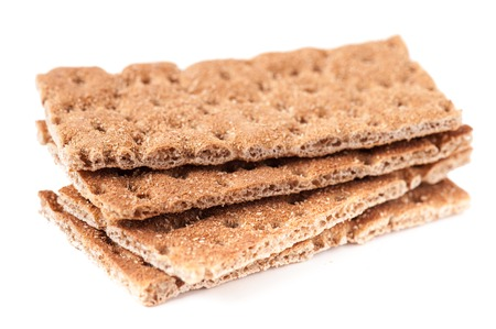 Stack of four slices of crispbread Standard-Bild