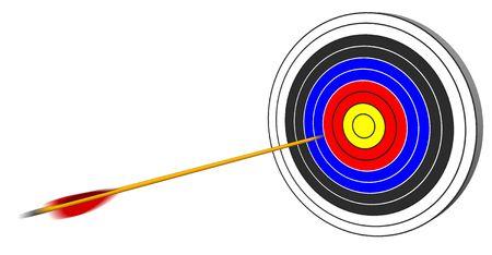 To shoot an arrow at target photo