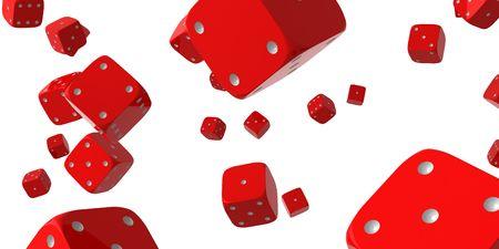 falling dice photo