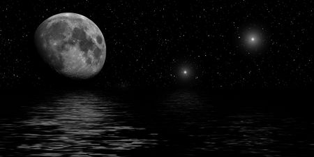 starlit: moon with water