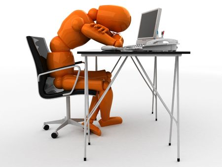 Orange mannequin and workplace Stock Photo - 1921119