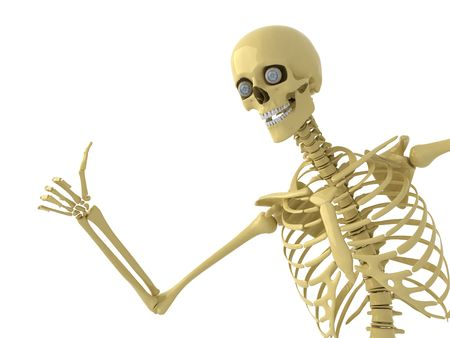 Skeleton with thumb up photo