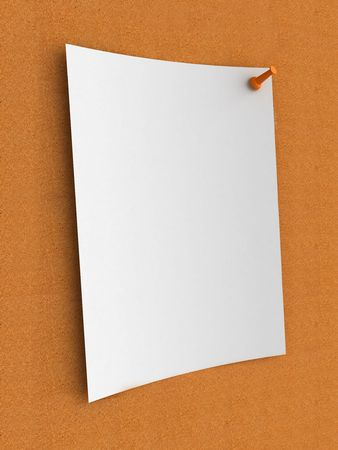 White note on cork board photo