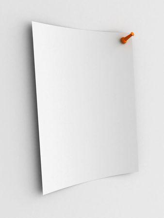 White note on white board photo