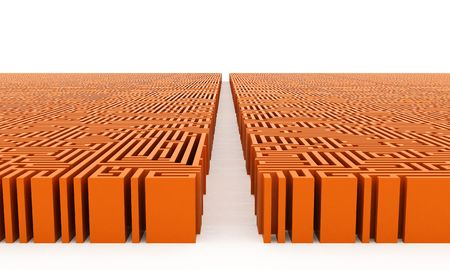 lustre: Orange maze with straight way