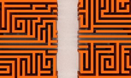 conquering: Orange maze with straight way