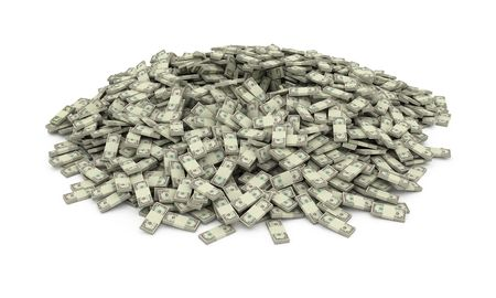 lustre: Isolated heap of money stacks
