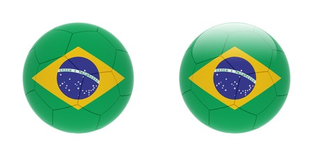 uefa: Football. The one is with glare.  Stock Photo