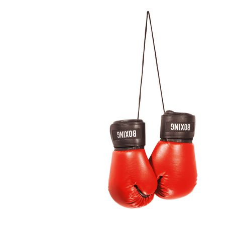 A pair of boxing gloves isolated on a white background Stock Photo