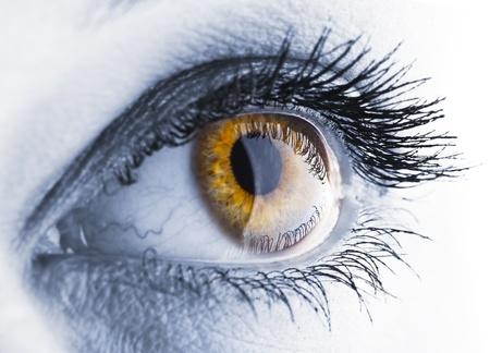 parpados: Portarretrato de ojo. Imagen fue estilizado para contraste de acento y color Foto de archivo