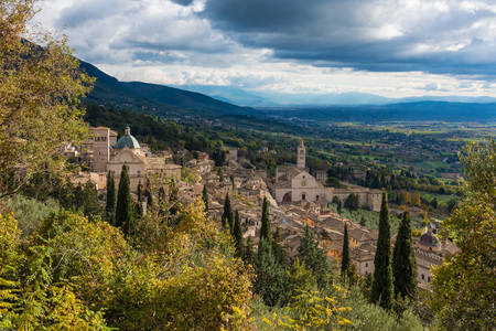 umbria: Assisi, Umbria (Italy) - The awesome medieval stone town in the Umbria region, with catholic sanctuary