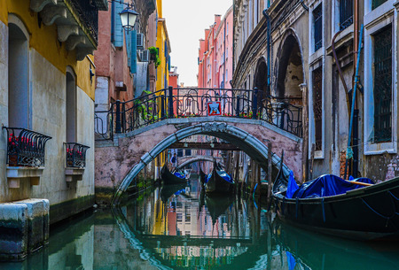 Venice, the pearl of Italy, the wonderful city on the sea. Stock Photo