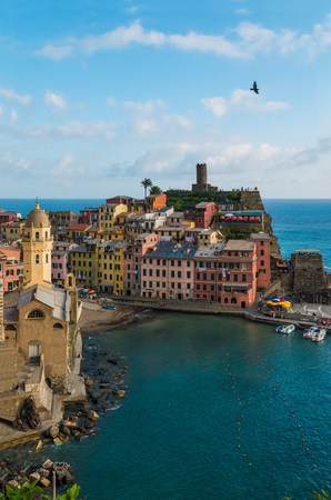 Cinque Terre (Five Lands in Inglese) - The awesome landmark of Liguria region, north Italy Stock Photo