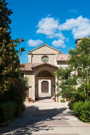 Abbey of Farfa (Lazio, Italy) - It's one of the most famous catholic abbeys of Europe. Benedictine Order Stock Photo