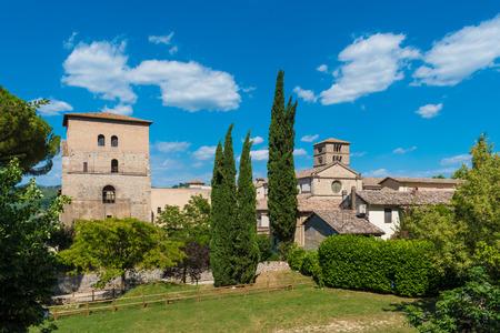 Abbey of Farfa (Lazio, Italy) - It's one of the most famous catholic abbeys of Europe. Benedictine Order Standard-Bild