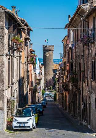 tuscia: BAGNAIA (Viterbo), ITALY - 17 JULY 2016 - A medieval town beside city of Viterbo, Lazio region, with the famous and touristic garden of Villa Lante Editorial