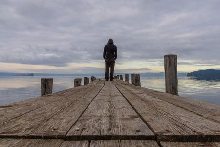 tuscia: Bolsena lake (Lazio, Italy) - The town of Marta, province of Viterbo Stock Photo
