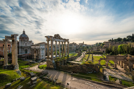 ROME, ITALY - APRIL 10 2016 - A recent visit to Rome, the capital of Italy. In this picture: Imperial Fora