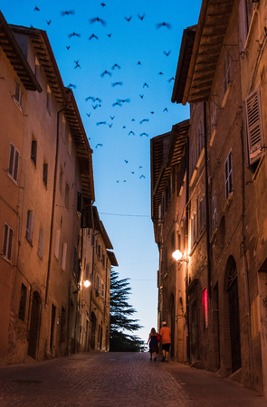 notable: URBINO, ITALY - 18-19 JULY 2015 - Urbino is a walled city in the Marche region of Italy, a World Heritage Site notable for a remarkable historical legacy of independent Renaissance culture.