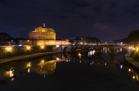 ROME, ITALY - JANUARY  FEBRUARY 2016 - Shot During a series of visits at the capital of Italy. Here: Castel SantAngelo