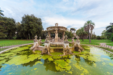 Rome, Italy - 23 September 2016 - The Villa Doria Pamphili is a seventeenth-century villa with what is today the largest landscaped public park in Rome, Italy. It is located on the Janiculum hill.