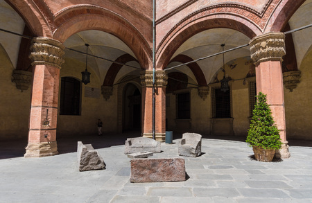 Bologna, Italy - 14 August 2016 - A touristic summer sunday in the city of porches and the capital of Emilia-Romagna region, northern Italy Editorial