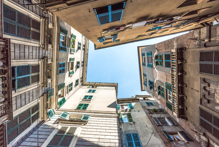 Genoa (Italy) - A big city in northern Italy, capital of the Liguria region, with the largest port and the quaint historic center Stock Photo - 68093619