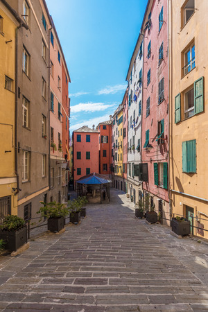 Genoa (Italy) - A big city in northern Italy, capital of the Liguria region, with the largest port and the quaint historic center Stock Photo