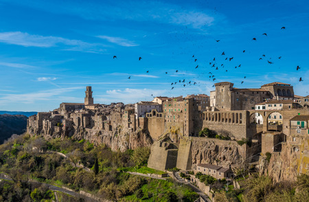 etruscan: Pitigliano (Italy) - The gorgeous medieval town in Tuscany region, known as The Little Jerusalem