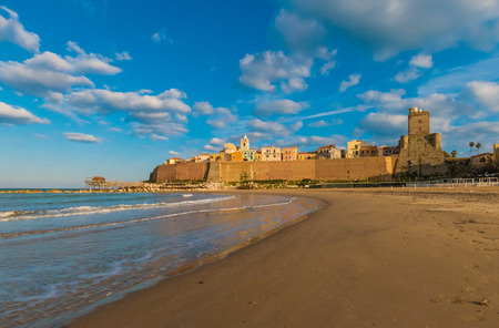 Termoli (Italy) - A touristic city on Adriatic sea in the province of Campobasso, Molise region, southern Italy Reklamní fotografie - 73570661