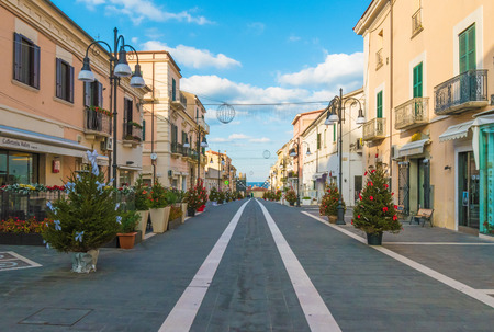 Termoli, Italy - 17 December 2016 - A touristic city on Adriatic sea in the province of Campobasso, Molise region, southern Italy