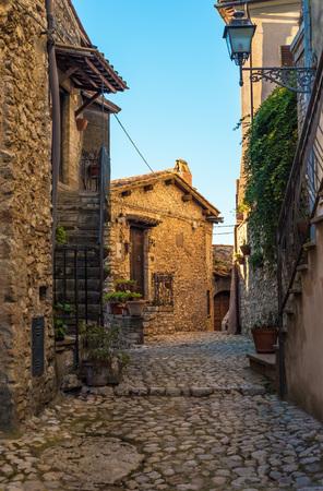 Casperia, Rieti - 23 December 2016 - A delightful and quaint medieval village in the heart of the Sabina, Lazio region