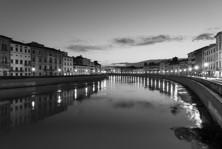 river arno: Pisa (Tuscany, Italy), city of the Leaning Tower and Arno river