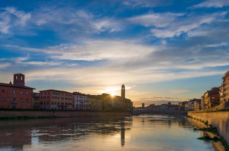 Pisa (Tuscany, Italy), city of the Leaning Tower and Arno river