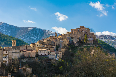 Villalago (Abruzzo, Italy) - A charming little medieval village in the province of LAquila, situated in the gorges of Sagittarius, between Lake and Lake Scanno San Domenico, with bridge of sanctuary