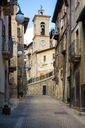 bear lake: Scanno (Abruzzo, Italy) - The medieval village of Scanno, plunged over a thousand meters in the mountain range of the Abruzzi Apennines, the province of LAquila
