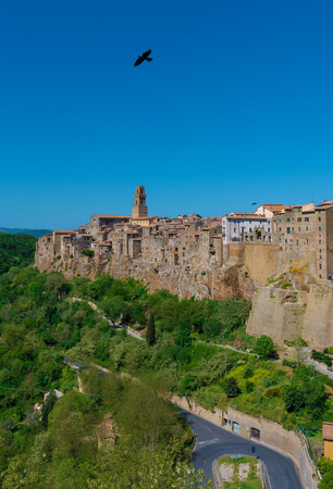 Pitigliano (Italy) - The gorgeous medieval town in tuff, Tuscany region, known as The Little Jerusalem
