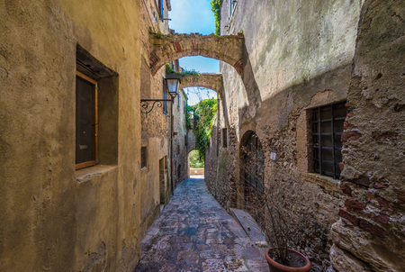 Capalbio, Italy - The historic center of the medieval town of Tuscany, very famous in the Renaissance period, for this reason called the little Athens Editorial