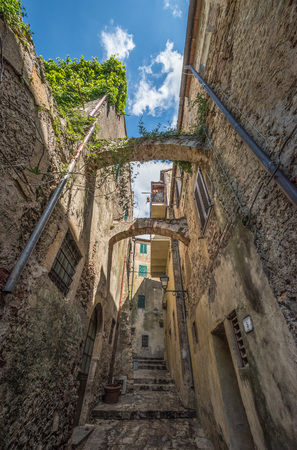 Capalbio, Italy - 22 April 2017 - The historic center of the medieval town of Tuscany, very famous in the Renaissance period, for this reason called the little Athens Editorial