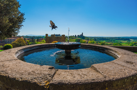 Tuscania (Italy) - A gorgeous Etruscan and medieval town in the province of Viterbo, Tuscia, Lazio region. Stock Photo