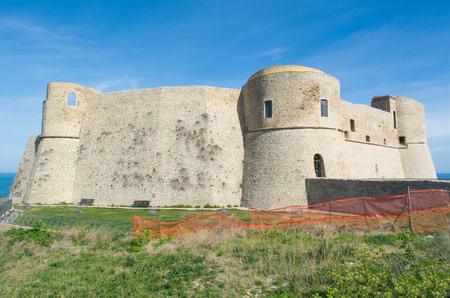 poetic: Ortona, Italy - 18 March 2017 - The city on the Adriatic Sea, with great port, medieval castle and beautiful historic center. Abruzzo region.