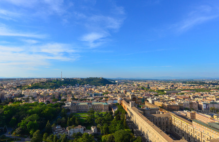 st peter s square: Rome, Vatican - 22 April 2015 - A visit to Saint Peters Basilica and Dome in the Vatican City State, the center of Catholic Religion with the Pope.