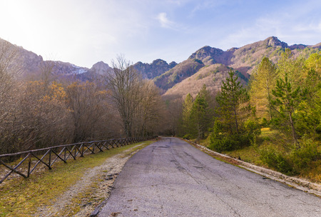 National Park of Abruzzo (Italy) - An Italian natural reserve, with the old town named Barrea, the Barrea Lake, the Camosciara and many wildlife. Stock Photo