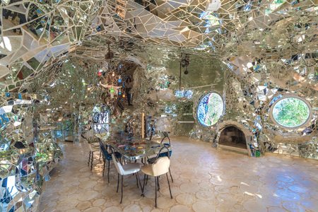 based: Capalbio, Italy - 22 April 2017 - The Tarot Garden is an awesome sculpture garden based on the esoteric tarot created by Niki de Saint Phalle in the Tuscany region.