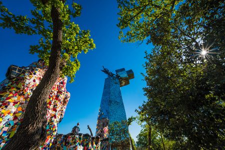 Capalbio, Italy - 22 April 2017 - The Tarot Garden is an awesome sculpture garden based on the esoteric tarot created by Niki de Saint Phalle, Tuscany region. Editorial