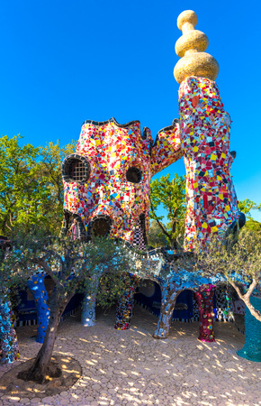 based: Capalbio, Italy - 22 April 2017 - The Tarot Garden is an awesome sculpture garden based on the esoteric tarot created by Niki de Saint Phalle, Tuscany region. Editorial