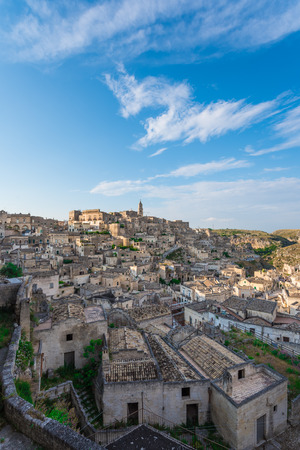 designated: Matera (Basilicata) - The historic center of the beautiful stone town of southern Italy, a tourist attraction for the famous Sassi, designated European Capital of Culture for 2019. Stock Photo