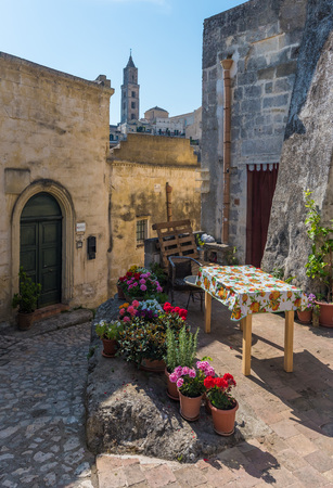 unesco: Matera, Italy - 3 June 2017 - The historic center of the beautiful stone city of southern Italy, a tourist attraction for the famous Sassi, designated European Capital of Culture for 2019. Editorial