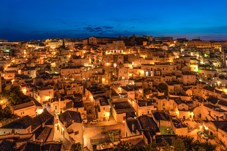 The historic center of the beautiful stone city of southern Italy, a tourist attraction for the famous Sassi, designated European Capital.